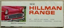 HILLMAN CAR RANGE Sales Brochure c1964 #1012/H SUPER MINX CONVERTIBLE Imp HUSKY