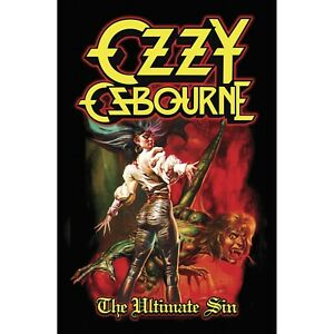 Ozzy Osbourne The Ultimate Sin Textile Poster Flag Offical Fabric Textile Banner