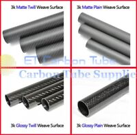 3K Carbon Fiber Tube 5mm 6mm 7mm 8mm 9mm 10mm 11mm 12mm x 1M (Roll Wrapped)