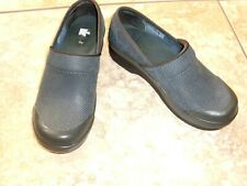 Women~DANSKO~Blue Textured Leather~Slip-on~Clog Mules Shoes size 6US/36EUR~LOGO