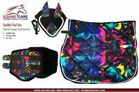 Equine Care Saddle Pad Ear Bonnet Brushing Boot Set jumping Saddle Horse Saddle