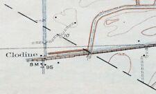 1919 Clodine Texas Antique USGS Topo Map Houston 7.5-minute Topographical
