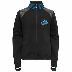 Outerstuff NFL Football Youth Girls Detroit Lions Aviator Full Zip Jacket