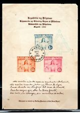 1943 PHILIPPINES  ASIA STAMPS   USED SOUVENIR SHEET    LOT 6708