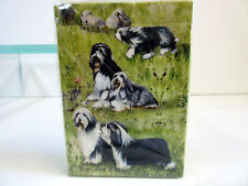 New Bearded Collies Dog Poker Playing Card Set of Cards by Ruth Maystead Collie