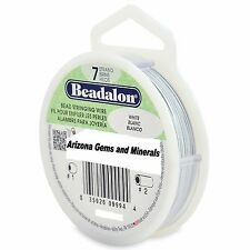 Beadalon Bead Stringing Wire 7 strand 30ft Sizes .010 thru .026 BRIGHT 13 COLORS