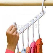 1pc Clothes Hanger Rack Portable Plastic Clothing Hook Magic Closet Organizer F
