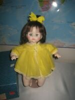 Vintage 1977 Madame Alexander Pussy Cat Doll in Yellow Dress with Original Box
