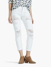 Lucky BRAND Womens Jeans Size 6 Sienna Slim BOYFRIEND Distressed White Bottoms