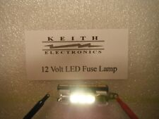 NEW 12 VOLT WARM WHITE LED FUSE  LAMP MOD UPGRADE  STEREO HIFI