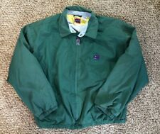 Vintage Bugle Boy Classic Mens Green Blue Full Zip Windbreaker Jacket Size XL