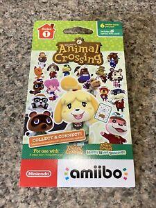 BRAND NEW Nintendo Animal Crossing Amiibo Series 1 Character Card Pack 6 Sealed