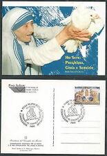 1997 ITALIA CARTOLINA TERESA DI CALCUTTA ANNULLO CONSIGLIO DEI MINISTRI - DA3