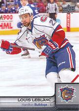 13/14 UPPER DECK AHL #31 LOUIS LEBLANC BULLDOGS *4751