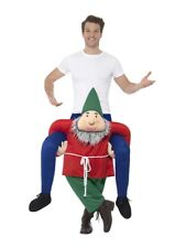 Mens Gnome Ride On Me Mascot Fancy Dress Carry Costume Piggy Back Xmas Outfit