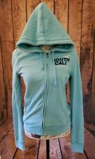 Blue HOLLISTER Women's Full Zip Graphic Hoodie, Large South Cali Waves/ Cali