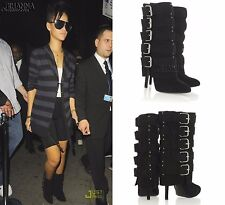 Giuseppe Zanotti for Balmain Multi Buckle HIGH HEEL BOOTS EU 37 US 6.5