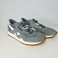 Womens REEBOK CL NYLON WR Grey Trainers AQ9827 UK 7 EUR 40.5