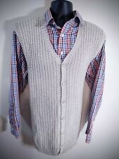 Vintage Eddie Bauer cotton Button Cardigan Sweater vest Men XLT Tall USA XL