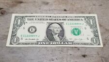 2013 Super Repeater Four Pair Dollar Fancy Serial Number Note E 11228844 J RARE