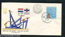 Ned. Antillen FDC E33_ 4M, blanco, Curacao ; Luchthaven