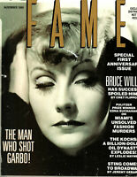 RARE PROMO August 1989 Issue Fame OOP Defunct Magazine GRETA GARBO EXCLUSIVE NFR