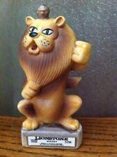 "Lionstone Lion Mini Kentucky Whiskey DECANTER Bottle 4 1/2"" tall Golds Brown"