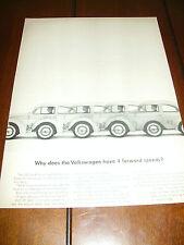 1963 VOLKSWAGEN VW BEETLE BUG   ***ORIGINAL VINTAGE AD***