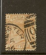 GB 1876 8d ORANGE SG156 CDS USED