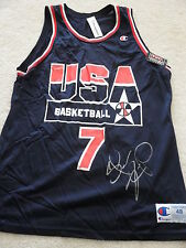 SHAWN KEMP SIGNED DREAM TEAM JERSEY RARE! COA AUTOGRAPHED IN PERSON SONICS