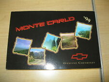 1999 CHEVROLET MONTE CARLO OWNERS MANUAL CHEVY GENUINE OEM