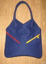 vintage MON SAC purple red yellow zip book bag satchel purse handbag TOTE USA