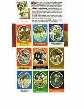 Roger Staubach (A) - 1972 NFL Action Stamp Sheet (Complete) - Sunoco/DX Pack