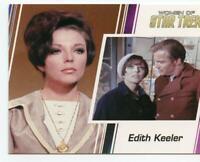 Women of Star Trek 50th Anniversay promo card P1 of Joan Collins as Edith Keeler