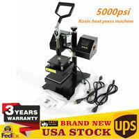 Digital Rosin Heat Press Machine Dual Heating Elements Swing-Arm 5000psi USA