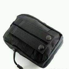 ^ 1% noir compact edc 1050D molle pouch bushcraft survie kits camping airsoft