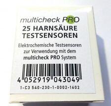 C3 540 Harnsäure Sensoren Teststreifen, 25 St., für Lifetouch Multicheck Pro