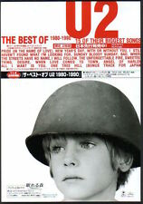 1998 U2 The Best Of 1980 - 1990 Japan album promo ad / mini poster advert u12r