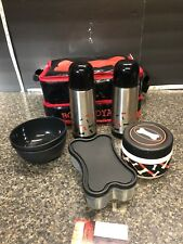 NEW K-9 GEAR Pets Travel Insulated Bag 2 Stainless Thermos, 2 Bowls, 2 Container