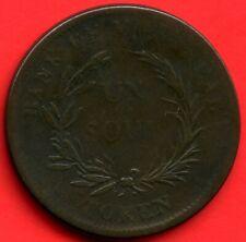 Lower Canada 1 Sou Bouquet Coin Token Bank Of Montreal #713