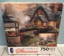 NEW & SEALED * THOMAS KINKADE MAKE A WISH COTTAGE 750 PIECE SHIMMER PUZZLE *