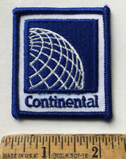 Vintage Continental Airlines Logo Patch Iron On Airplane Aviation Blue White