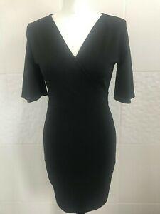Quiz Little Black Dress Open Back Size 10