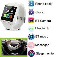 White Bluetooth Wrist Smart Watch For Samsung Galaxy S6 S7 Mini Alcatel C9 LG G5