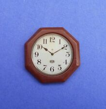 Miniature Dollhouse Octagon Wall Clock 1:12 Scale New