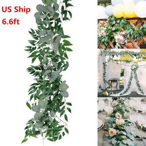 Fake Artificial Eucalyptus Garland Wreath Greenery Leaf Vine Wedding Plant Decor