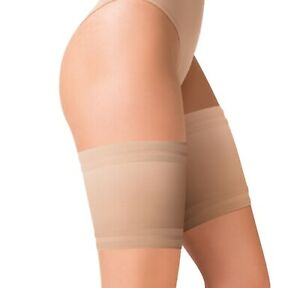 Beige Anti Chafing Thigh Bands Elastic Non Slip Prevent Chaffing Stay Up Sock UK