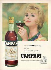 1967 Originale Pubblicita' vintage BITTER CAMPARI donna bionda con collana