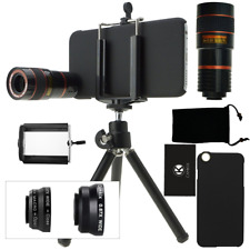12x Optical Zoom Telescope Camera Lens Kit Cell Phone Photography Set For iPhone