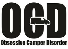 Ocd obsesivo Camper trastorno pegatina de vinilo calcomanía